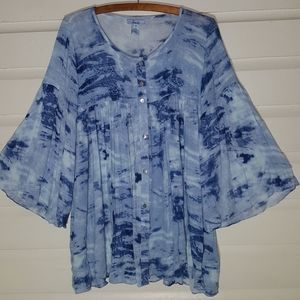 Lani tie dye swing top